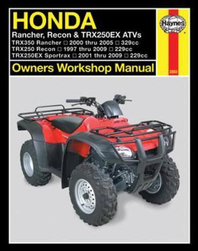 Honda Rancher, Recon & TRX250EX ATVs (97 - 09) (Paperback)