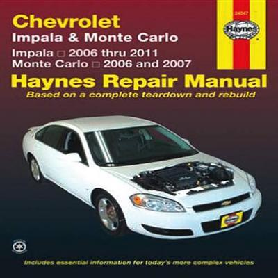 Chevrolet Impala & Monte Carlo (Paperback)