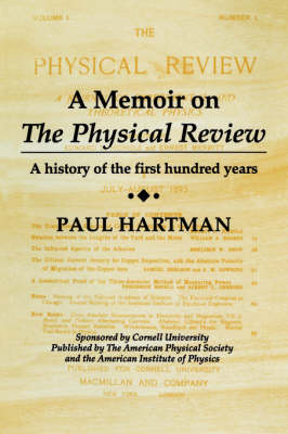A Memoir on the Physical Review (Paperback)