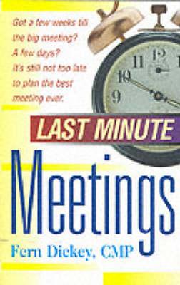 Last Minute Meetings (Paperback)