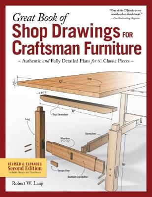 Great Book of Shop Drawings for Craftsman Furniture (Paperback)