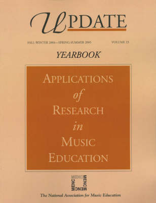Update: v. 23: Applications of Research in Music Education (Paperback)