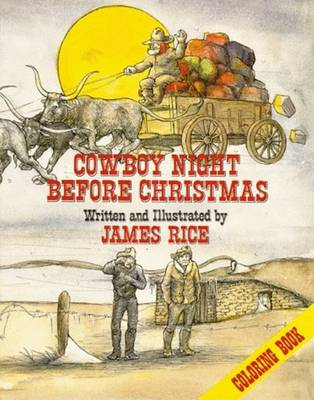 Cowboy Night Before Christmas Coloring Book (Paperback)