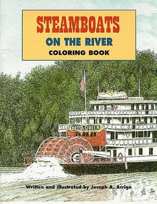 Steamboats On The River Coloring Book (Paperback)