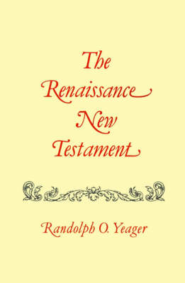 Renaissance New Testament, The: Matthew 8-19 (Paperback)