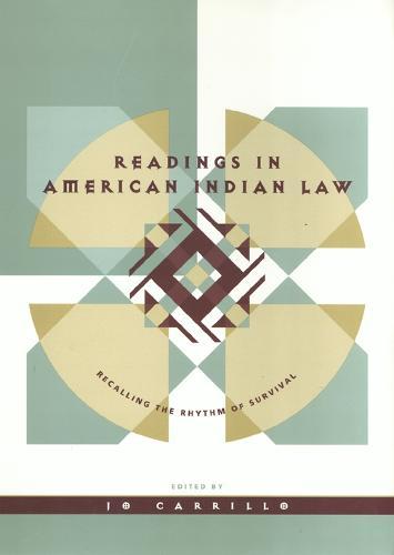 Readings In American Indian Law (Hardback)