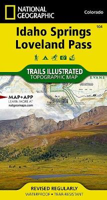 Idaho Springs/loveland Pass: Trails Illustrated (Sheet map, folded)
