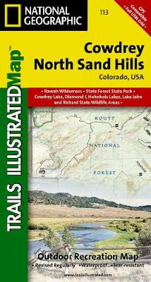 Cowdrey/north Sand Hills: Trails Illustrated (Sheet map, folded)