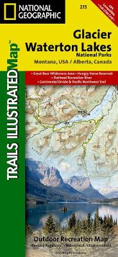 Glacier/waterton Lakes National Parks: Trails Illustrated National Parks (Sheet map, folded)
