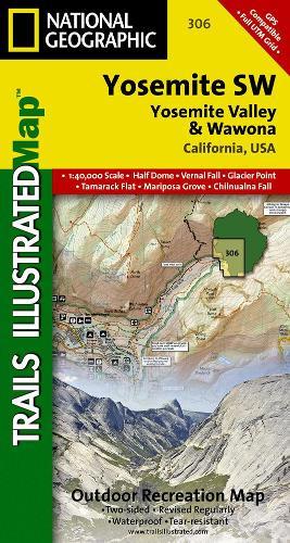 Yosemite Sw, Yosemite Valley & Wawona: Trails Illustrated National Parks (Sheet map, folded)