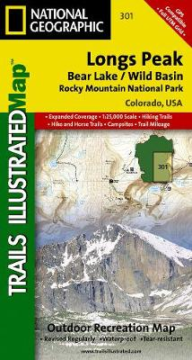 Longs Peak: Trails Illustrated National Parks (Sheet map, folded)