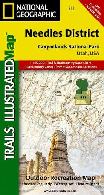 Canyonlands - Needles District: Trails Illustrated National Parks (Sheet map, folded)
