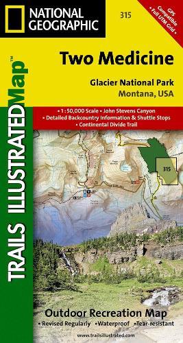 Two Medicine, Glacier National Park: Trails Illustrated National Parks (Sheet map, folded)
