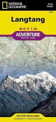 Langtang, Nepal: Travel Maps International Adventure Map (Sheet map, folded)