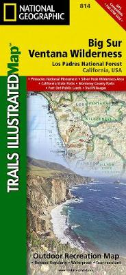 Big Sur/ventana Wilderness - Los Padres National Forest: Trails Illustrated Other Rec. Areas (Sheet map, folded)