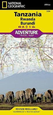 Tanzania, Rwanda, Burundi: Travel Maps International Adventure Map (Sheet map, folded)