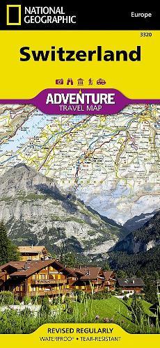 Switzerland: Travel Maps International Adventure Map (Sheet map, folded)