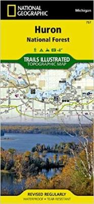 Huron National Forest: Trails Illustrated Other Rec. Areas (Sheet map, folded)