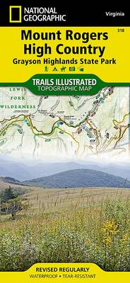 Mount Rogers High Country: Trails Illustrated Other Rec. Areas (Sheet map, folded)