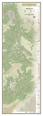 National Geographic Colorado Trail Wall Map In Gift Box (Sheet map, folded)