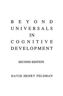 Beyond Universals in Cognitive Development, 2nd Edition (Paperback)