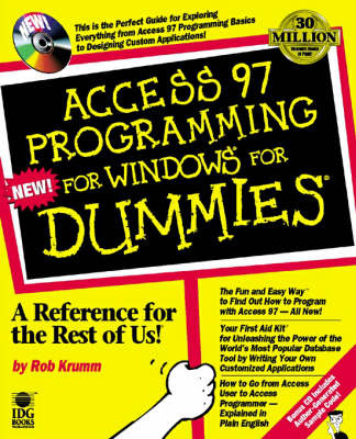 Access Programming for Windows '95 For Dummies (Paperback)