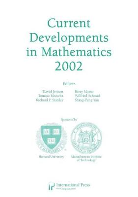 Current Developments in Mathematics, 2002 (Paperback)