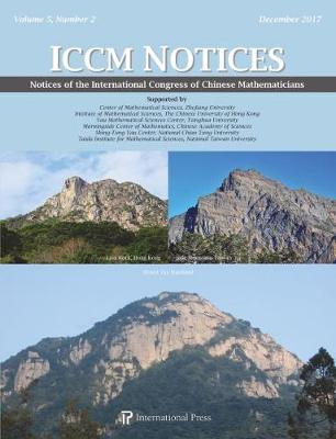 Notices of the International Congress of Chinese Mathematicians, Volume 5, Number 2 (Paperback)