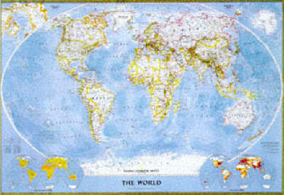World Political Map: Winkel Tripel Projection - NG world maps (Sheet map, rolled)