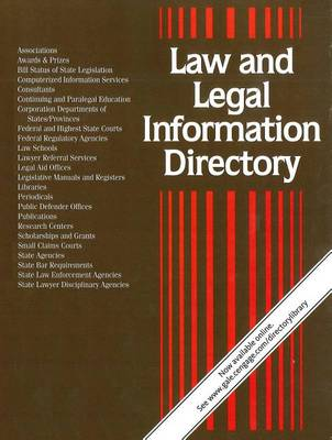 Law & Legal Information Directory - Law & Legal Information Directory (Paperback)