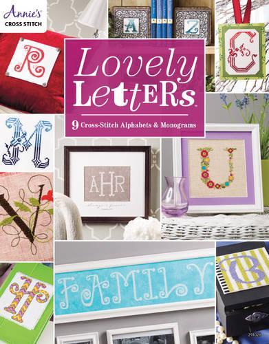 Lovely Letters: 9 Cross-Stitch Alphabets & Monograms (Paperback)
