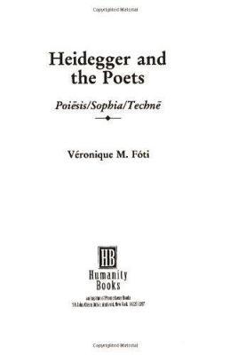 Heidegger And The Poets (Paperback)