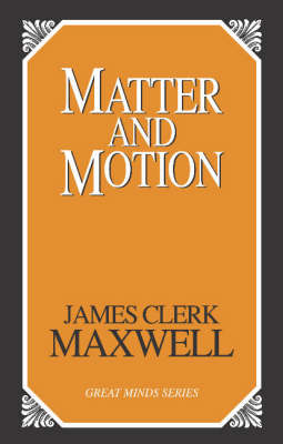 Matter And Motion (Paperback)