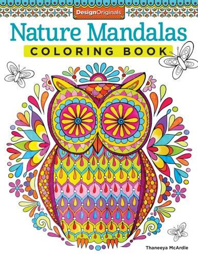 Nature Mandalas Coloring Book (Paperback)