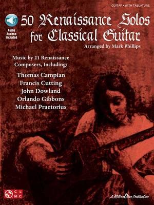 50 Renaissance Solos For Classical Guitar (Book/Online Audio) (Paperback)