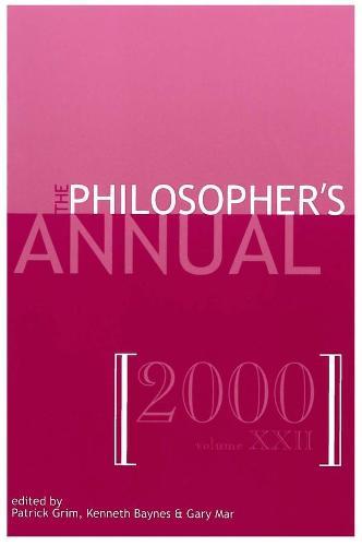 Philosopher's Annual: v. 22 (Paperback)