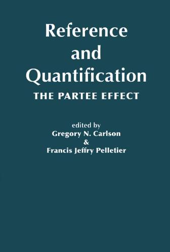 Reference and Quantification: The Partee Effect - Lecture Notes (Hardback)