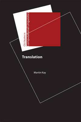 Translation - CSLI - Studies in Computational Linguistic (Hardback)