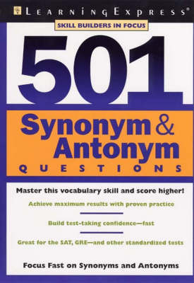 501 Synonym and Antonym Questions (Paperback)