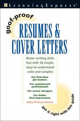 Goof-Proof Resumes and Cover Letters (Paperback)
