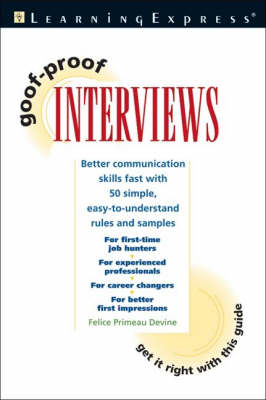Goof Proof Interview (Paperback)