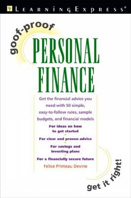 Goof Proof Personal Finance (Paperback)