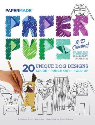 Paper Pups Coloring Book: Paper Pups 3-D Coloring! (Paperback)