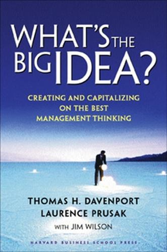 What's the Big Idea: Creating and Capitalizing on the Best Management Thinking (Hardback)