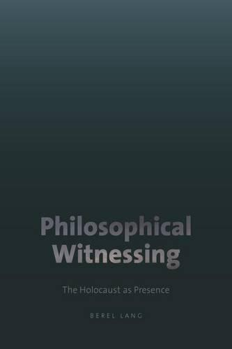 Philosophical Witnessing (Hardback)