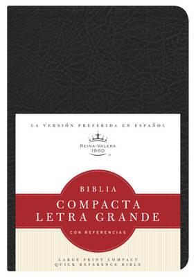 RVR 1960 Biblia Compacta Letra Grande con Referencias, negro imitacion piel (Leather / fine binding)