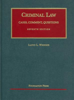 Criminal Law - University Casebook Series (Hardback)