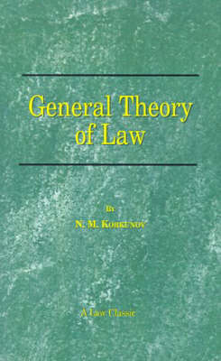 General Theory of Law (Paperback)