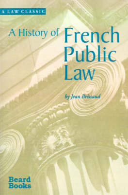 A History of French Public Law (Paperback)
