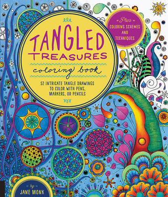 Tangled Treasures Coloring Book: 52 Intricate Tangle Drawings to Colour with Pens, Markers, or Pencils (Paperback)